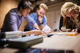 Group of designer working on project - 221091144