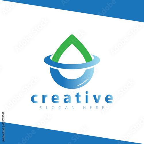 Water Droplet Wave Logo Icon Vector Template Buy Photos AP