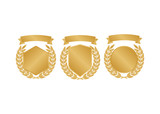 Laurel wheat awards heraldry antiquity. Winner triumph and success vector laurel - 221097926
