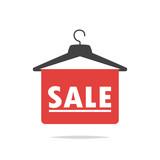 Sale sign clothes hanger vector - 221101164