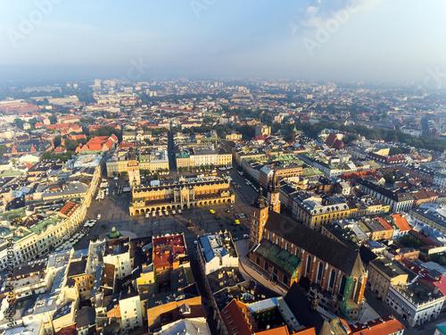 Krakow Market Square, Poland, sunrise
