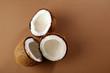 Three coconut halves - 221108981
