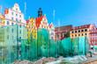 Leinwanddruck Bild - Market Square in Wroclaw, Poland