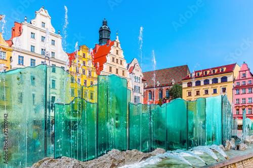 Leinwanddruck Bild Market Square in Wroclaw, Poland