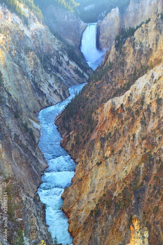 Lower Falls Artist point, Grand Canyon of Yellowstone National Park, Wyoming, USA - 221118334
