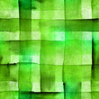 Leinwandbild Motiv Seamless abstract watercolor texture with green squares