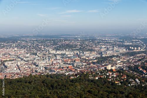 Blick auf die Innenstadt von Stuttgart