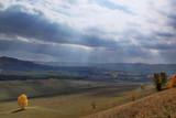 Autumn landscape with sunbeams - 221129962