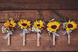 Small sunflower boutonnieres - 221134149