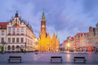 Town Hall of Wroclaw at dusk, Poland - 221147549