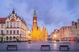Town Hall of Wroclaw at dusk, Poland