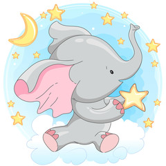 Cute little baby elephant.
