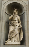 Poet Francesco Petrarca monument in Florence, Italy - 221162121