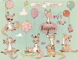 Se with Little kangaroo and balloons