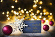 Leinwanddruck Bild - Christmas Background, Lights, Guten Rutsch Means Happy New Year 2019