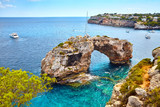 Es Pontas, a natural arch in the southeastern part of Mallorca, Spain. - 221183501