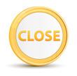 Close gold round button