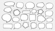 Set of comic speech bubbles. Cartoon vector illustration - 221211972