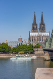 Rhine River and Cologne Cathedral - 221216799