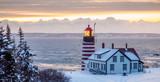 Sunrise at West Quoddy Lighthouse  - 221216934