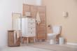 Leinwandbild Motiv Toilet bowl in modern bathroom interior