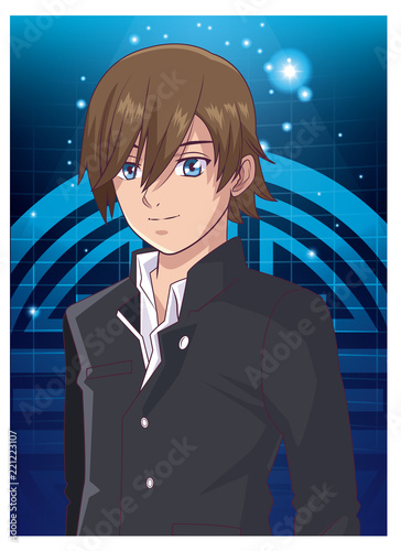 Young man anime cartoon - 221223107