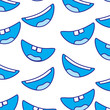 pattern with mouths face expressions smile laughing