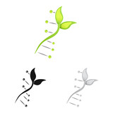 Vector design of genetic and plant symbol. Collection of genetic and biotechnology stock symbol for web. - 221232579