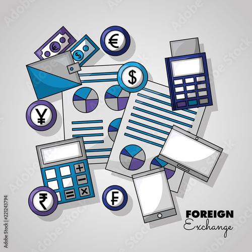 Naklejka foreign exchange card