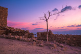 The ruins of the palace of King Herod's in the early morning. Masada. Israel - 221244772