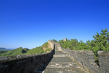 The old Great Wall, in the blue sky background - 221250719