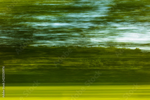 Nature in motion from the train window - 221250976