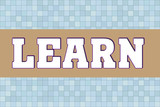 LEARN Logo banner on abtract texture - 221256153