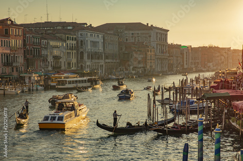 View from Rialto Bridge in Venice Italy before sunset - 221256178