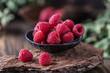 Fresh raspberries background. Fresh raspberry - 221265197