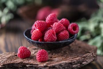 Fresh raspberries background. Fresh raspberry © Agnes