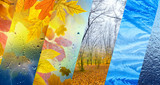 Fall and winter, weather forecast concept - 221266369