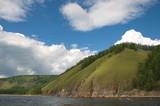 Beautiful riverside of the Siberian river. - 221272775