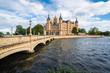 Leinwanddruck Bild - Schwerin palace or Schwerin Castle, northern Germany.