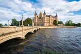 Schwerin palace or Schwerin Castle, northern Germany. - 221280994