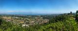 Panoramique depuis le château d' Allinges sur le lac Léman et le village d' allinges - 221286705