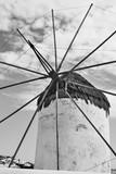 Traditional greek windmill in Mykonos - 221289110