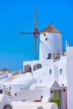 Windmill in Oia in Santorini - 221289340