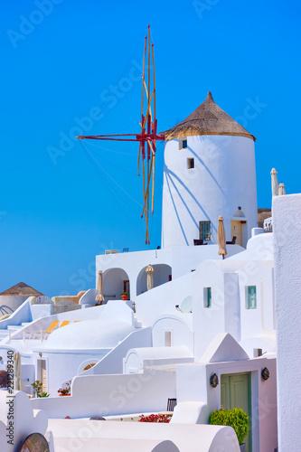 Windmill in Oia in Santorini