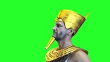 ancient Egyptian Pharaoh render 3D on green background - 221289779
