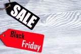 concept black friday on wooden background top view - 221289964