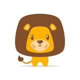 Cute lion vector isolated - 221294799