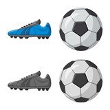 Isolated object of soccer and gear sign. Collection of soccer and tournament vector icon for stock. - 221295139