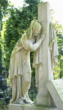 Virgin Mary cries under the cross - 221296106