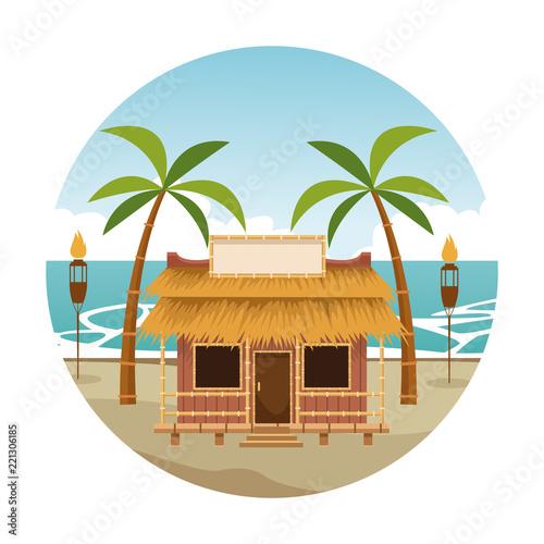 Beach kiosk cartoon